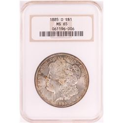 1885-O $1 Morgan Silver Dollar Coin NGC MS65 Old Holder