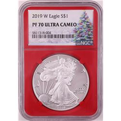 2019-W $1 Proof American Silver Eagle Coin NGC PF70 Ultra Cameo