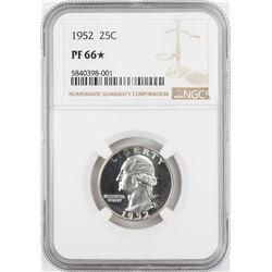 1952 Proof Washington Quarter Coin NGC PF66* Star