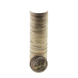 Roll of (50) Brilliant Uncirculated 1946-S Roosevelt Dimes