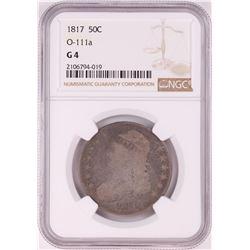 1817 Capped Bust Half Dollar Coin NGC G4 O-111a