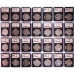 1878-1921 $1 Morgan Silver Dollar (28) Coin Date Set NGC Genuine
