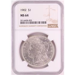1902 $1 Morgan Silver Dollar Coin NGC MS64