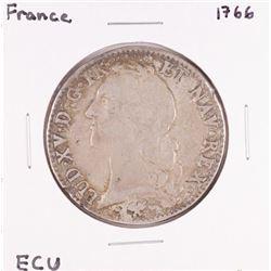 1766 France Louis XV ECU Silver Coin