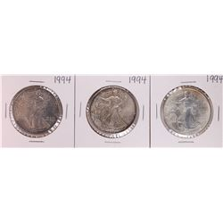 Lot of (3) 1994 $1 American Silver Eagle Coin