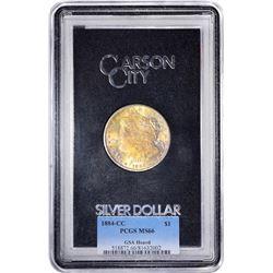 1884-CC $1 Morgan Silver Dollar Coin GSA Hoard PCGS MS66 Great Toning