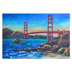 "Yana Rafael ""Homage To The Golden Gate"" Original Acrylic On Canvas"