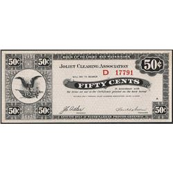 1933 Fifty Cents Joliet, Illinois Clearing Association Check