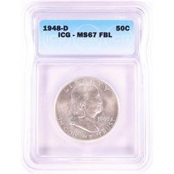 1948-D Franklin Half Dollar Coin ICG MS67FBL