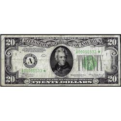 1934 $20 Federal Reserve Star Note Boston