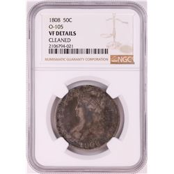 1808 Capped Bust Half Dollar Coin NGC VF Details O-105