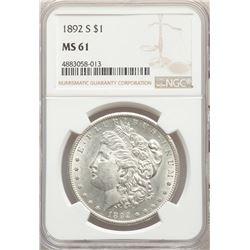 1892-S $1 Morgan Silver Dollar Coin NGC MS61