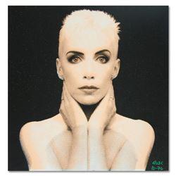 """Ringo"" Daniel Funes ""Annie Lennox"" Original Mixed Media On Canvas (Warhol Protégé)"