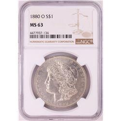 1880-O $1 Morgan Silver Dollar Coin NGC MS63
