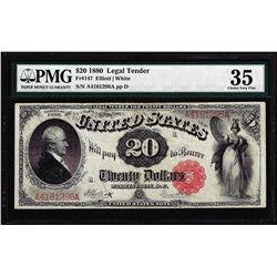 1880 $20 Legal Tender Note Fr.147 PMG Choice Very Fine 35