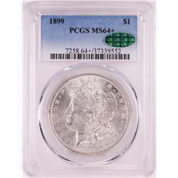 1899 $1 Morgan Silver Dollar Coin PCGS MS64+ CAC
