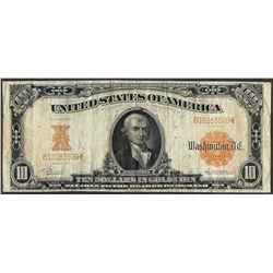 1907 $10 Gold Certificate Note