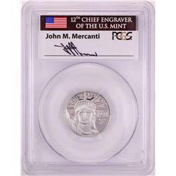 1998-W $25 Proof Platinum American Eagle Coin PCGS PR70DCAM John Mercanti Signature