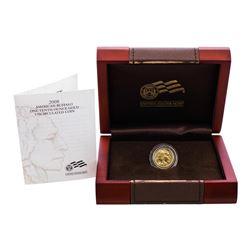2008-W $5 American Buffalo 1/10 oz. Gold Coin w/ Box & COA