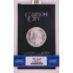 1891-CC $1 Morgan Silver Dollar Coin GSA Hoard Uncirculated NGC MS61