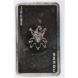 Joker - Vintage .9999 Fine Silver Bar