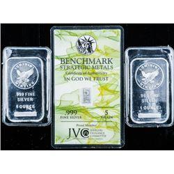 Lot (2) Collector Bullion Bars .9999 Fine  Silver