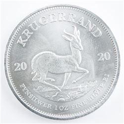 South Africa 'Krugerrand' .999 Fine Silver  2020 1oz Round