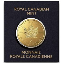 Royal Canadian Mint .9999 Fine Gold 50c Maple Leaf. Scarce, Very Collectible Rich Canadian Gold.