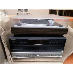 203 - Stereo Recevier, DVD player &  Record Player