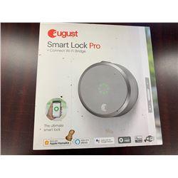 August Wi-Fi Smart Lock Pro + Connect Wi-Fi Bridge Keyless Smartphone Entry Kit
