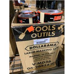 Case of 48 LargeDuramax Masking Tape Rolls