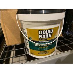 Case of Liquid Nails Outdoor Carpet Adhesive (3.78L)