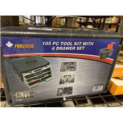 Prograde 105 PC Tool Kit w/ 4-Drawer Set