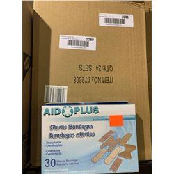 Aid Plus 30 Sterile Bandages Lot of 12