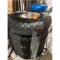 Lot of 4-Prograde Non-Flat Hand Truck Tires - Black