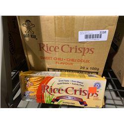 Case of Rice Crisps Sweet Chili Flavor (20 x 100g)