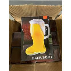 Case of 6 Beer Boot Mugs 22oz