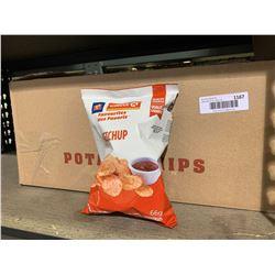 Case of Circle K Ketchup Potato Chips