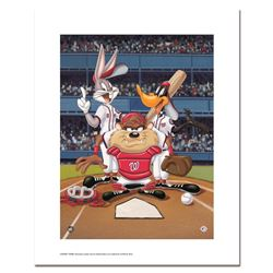 """""""At the Plate (Nationals)"""" Numbered Limited Edition Giclee from Warner Bros. wit"""