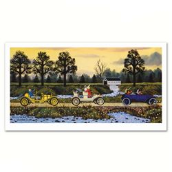 """Jane Wooster Scott, """"Merrily We Roll Along"""" Hand Signed Limited Edition Lithogra"""