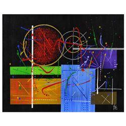 "George Marlowe, ""Seaborgium"" Hand Signed Original Acrylic Painting on Canvas wit"