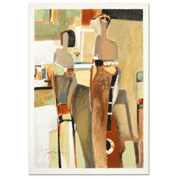 """""""Bar Scene II"""" Limited Edition Serigraph by the Gifted Yuri Tremler, Hand Signed"""
