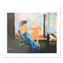 """Alexander Borewko, """"Lady In Blue"""" Hand Signed Limited Edition Serigraph with Let"""