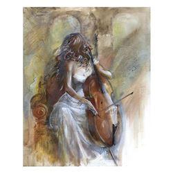 "Lena Sotskova, ""Sonata"" Hand Signed, Artist Embellished Limited Edition Giclee o"