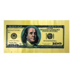 "Steve Kaufman (1960-2010), ""100 Dollar New Ben Bill"" Hand Signed and Numbered Li"