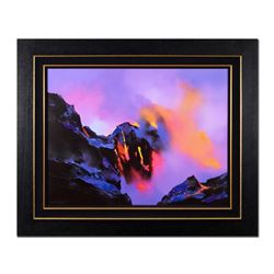 """Thomas Leung, """"Molten Rock"""" Framed Hand Embellished Limited Edition on Canvas, N"""