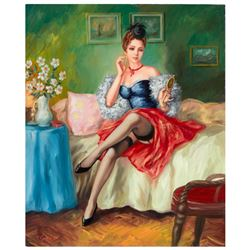 "Taras Sidan, ""Before The Date"" Hand Signed Limited Edition Giclee on Canvas with"