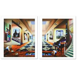 """Perfect Afternoon"" Limited Edition Giclee Diptych on Canvas by Ferjo, Numbered"