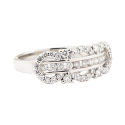 0.54 ctw Diamond Ring - 18KT White Gold