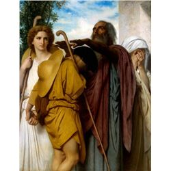 William Bouguereau - Tobias Saying Good-Bye to his Father